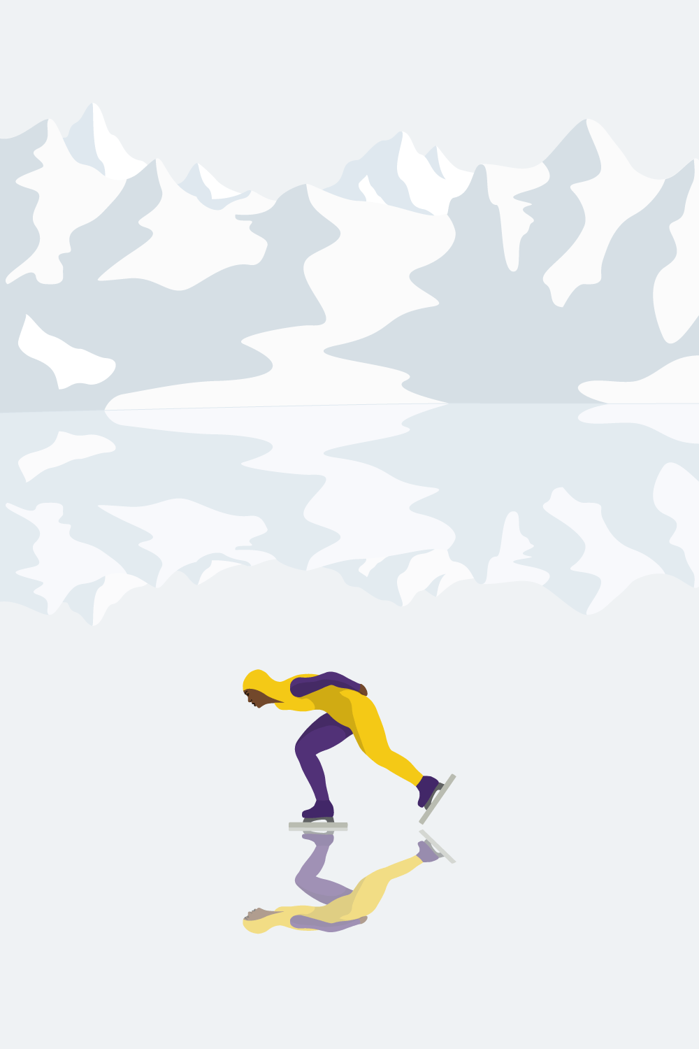 Lone Skater - illustration by Robert Fiszer