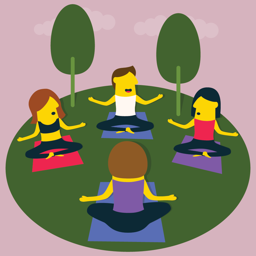 Outdoor Yoga - illustration by Robert Fiszer