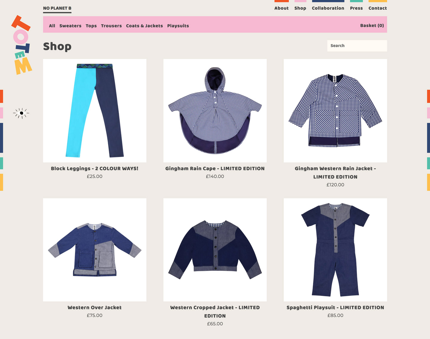 Totem Kids shop screenshot